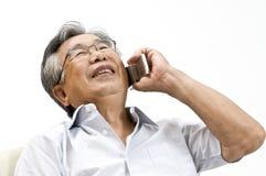 日本的老人 库存图片