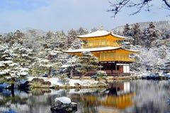 日本的金黄寺庙 图库摄影