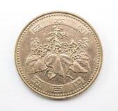 日本硬币 库存照片