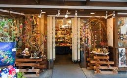 日本礼物和纪念品地方商店 图库摄影