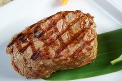 日本神户烤肋条肉。 免版税库存照片
