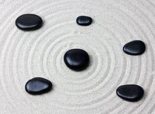 日本禅宗庭院凝思石头 免版税库存照片