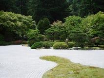 日本禅宗庭院 波特兰地平线 库存图片