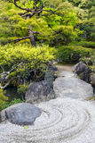 日本禅宗庭院 免版税库存照片