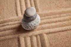 日本禅宗石头庭院 免版税库存图片