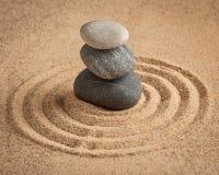 日本禅宗石头庭院 免版税图库摄影