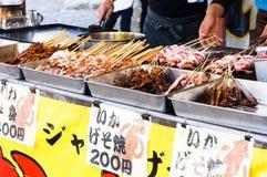 日本章鱼食品店 库存图片