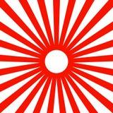 日本红色太阳墙纸背景传染媒介 库存例证