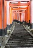 日本红色隧道 免版税库存照片
