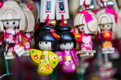 日本纪念品keychain 图库摄影