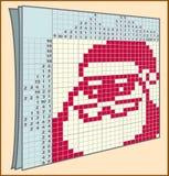 日本纵横填字谜例子 库存图片