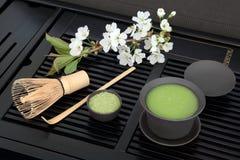 日本绿色Matcha茶 免版税库存图片
