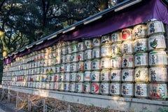 日本缘故桶的一汇集 免版税图库摄影