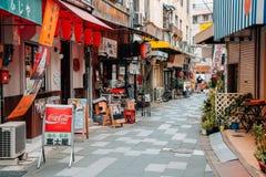 日本老餐馆街道 库存照片