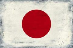 日本背景葡萄酒国旗  免版税图库摄影