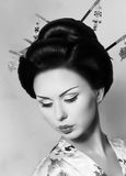 日本艺妓妇女 免版税库存照片
