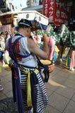 日本节日的鼓手 库存图片