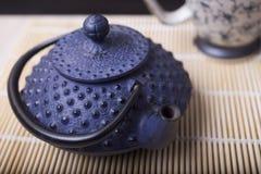 日本茶壶 免版税库存图片