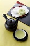 日本茶时间 免版税库存照片