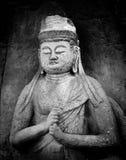 日本菩萨雕象 免版税图库摄影