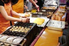 日本街道食物 库存图片