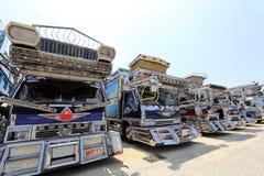 日本装饰货物卡车 免版税库存照片
