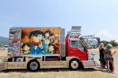 日本装饰货物卡车 免版税库存图片