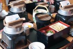 日本设置表 免版税库存照片