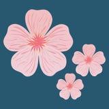 日本设计的平的例证 免版税库存照片