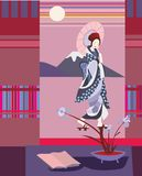 日本诗歌 库存图片