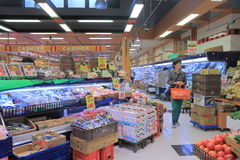 日本超级市场 免版税库存图片