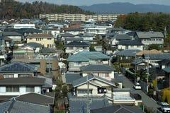 日本郊区居民 免版税库存照片