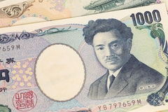 日本金钱日元钞票 免版税库存照片