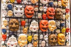 日本面具文化 免版税图库摄影