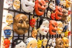 日本面具文化 库存照片