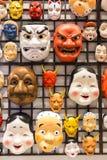 日本面具文化 免版税库存图片