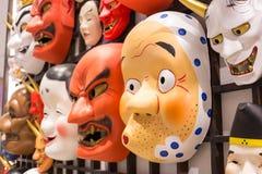 日本面具文化 库存图片