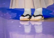 日本鞋子 免版税库存图片