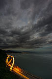 日本风暴tokaido 库存图片