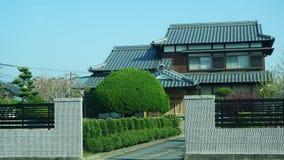 日本风格房子在东部福冈 免版税库存图片