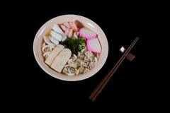 日本食物乌龙面 库存图片