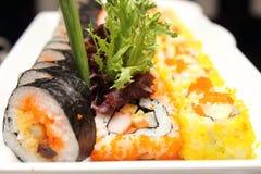 日本食物寿司卷 图库摄影