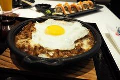 日本食物用鸡蛋 图库摄影
