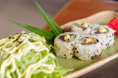 日本食物金枪鱼卷 库存照片