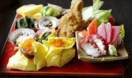 日本食物集合  图库摄影