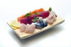 日本食物,混杂的生鱼片 免版税库存图片