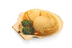 日本食物,贝类, susi,烤了在米的鳗鱼 免版税库存图片