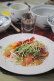 日本食物, susi,烤了在米的鳗鱼 免版税库存照片