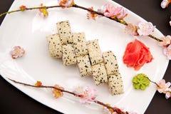 日本食物-寿司和佐仓 免版税库存照片