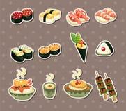 日本食物贴纸 免版税库存图片